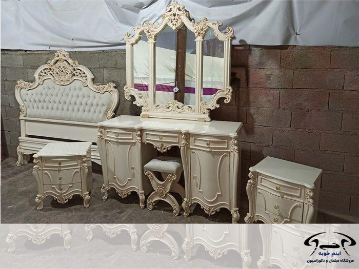 تخت خواب عروس سفید