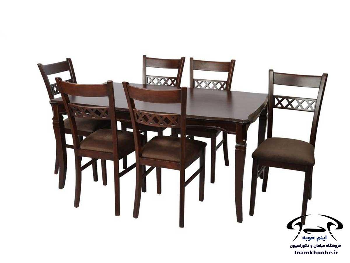 میز غذا خوری شش نفره مدرن